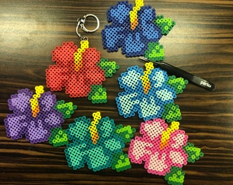 a368c73d9 Hibiscus flower keychains magnets