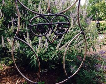 Genial Metal Hanging Owl, Yard Art, Garden Decor, Metal Sculpture