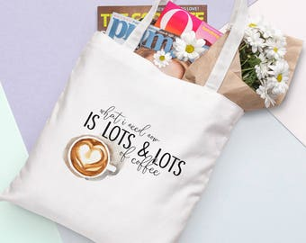 Gilmore Girls Tote Bag - beaucoup de café | Citation, tv,
