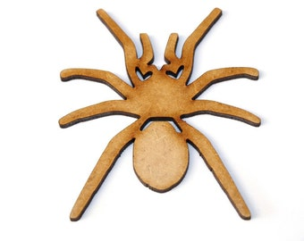 Wooden MDF Scary Spider Shapes Bunting Craft Embellishments Halloween Decoration