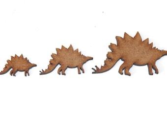 Wooden MDF Dinosaur Shapes Bunting Craft Embellishments Brachiosaurus Decoration
