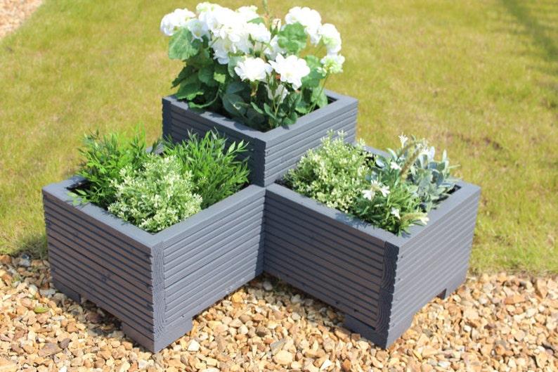 60cm Wooden Tall Window Box//Garden Planter Trough