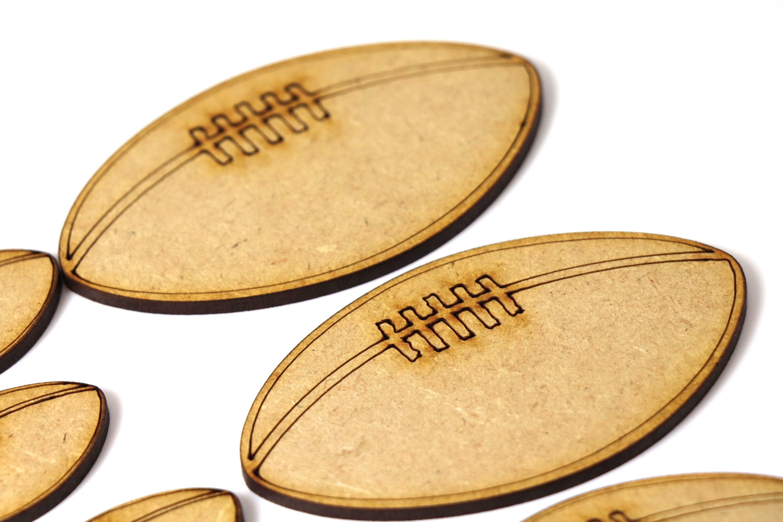 Wooden MDF Football Balls Shapes Bunting Craft Embellishments Sports Decoration