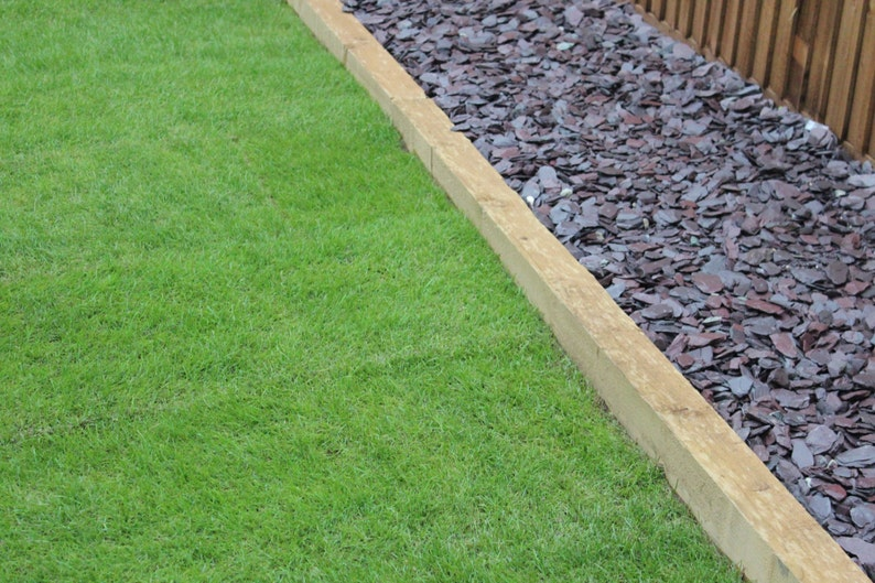 Wooden Garden Railway Sleepers Treated Timber 2 4mx100mmx200mm Raised Beds