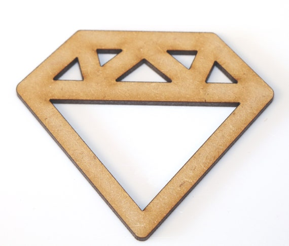 Wooden Bunting Triangles MDF Craft Art Shape Embellishment Cardmaking