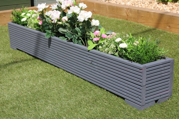 Wooden Decking Garden Planter 120cm /& 150cm sizes High quality 100cm