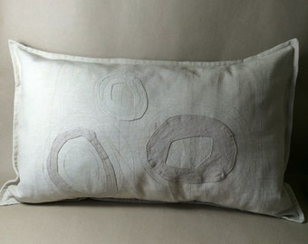 pillow case, beach grass series, FOUR, 65 cm x 40 cm, one of a kind