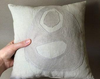 pillow, beachgrass series, ONE, 30 cm x 30 cm, one of a kind
