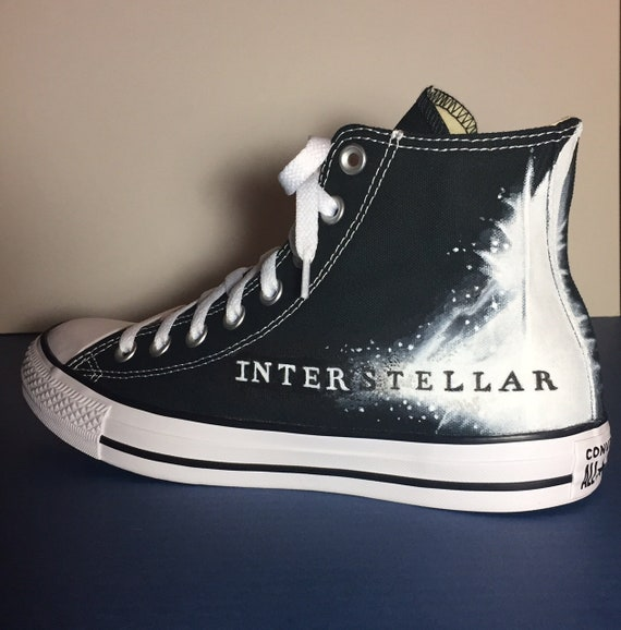 e5282eaa650c6 Movie theme / Interstellar - hand painted high top Converse - by Deborah  Kalantari - My Heart and Soles