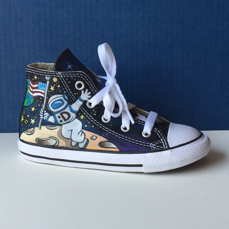 9c8c705190529 Hand painted High Top Converse - Size 10 Infant (for a toddler) - Outer  Space Theme by Deborah Kalantari - My Heart and Soles