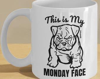 Cute Bulldog Clip Art Bulldog Clipart Png For Scrapbooking Etsy