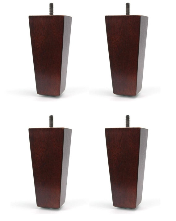 "2 1//2/"" Universal Dark Brown Plastic Furniture Legs Sofa~Couch~Chair Set Of 4"