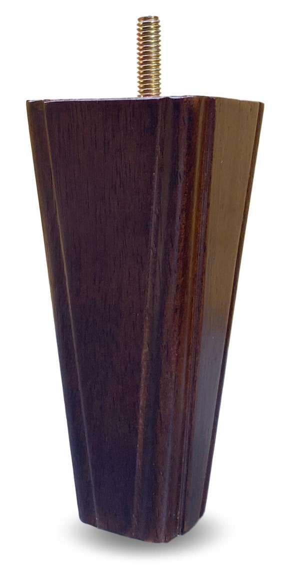 "6/"" Solid Wood Furniture Sofa//Chair//Ottoman Tapered Legs Walnut Finish Set of 4"