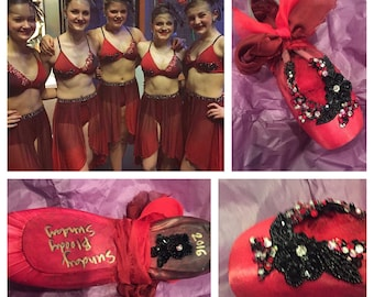 Custom Decorated Pointe Shoe Ballet