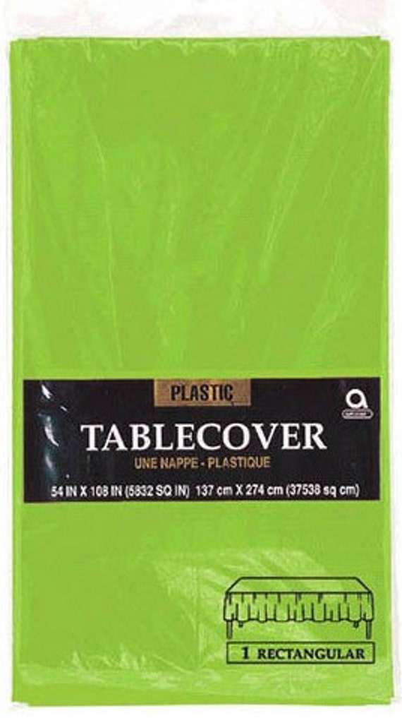 Kiwi /& Celery Leaf Green Solid Color Floral Party Decoration Plastic Tablecover