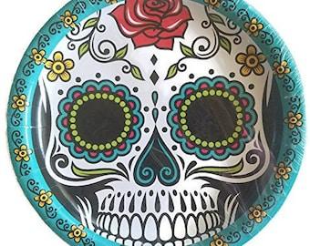Day ...  sc 1 st  Etsy & Skull paper plates | Etsy