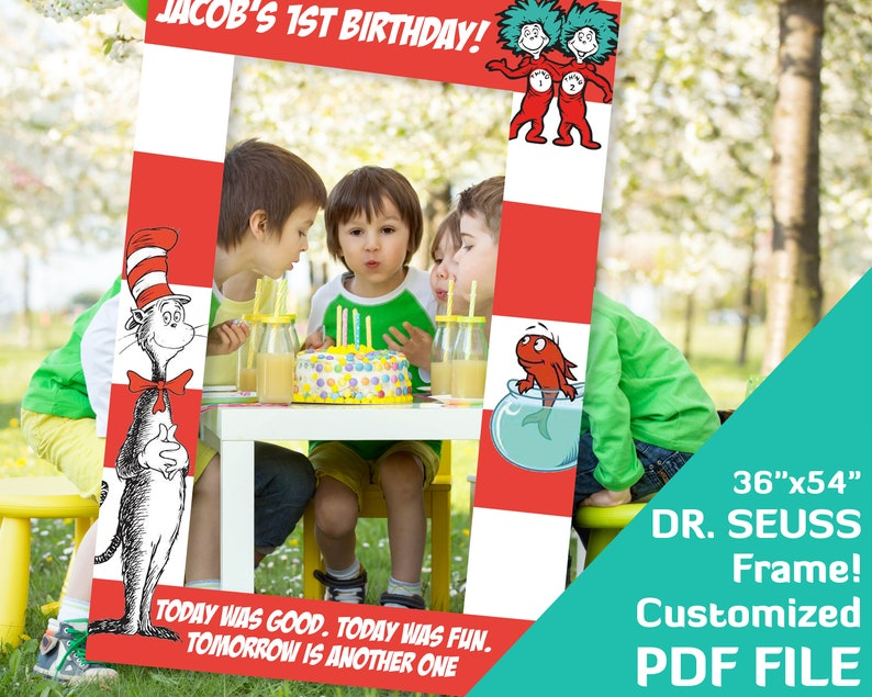Dr Seuss Birthday Party Decorations from i.etsystatic.com