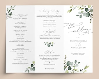Wedding Program Template Publisher from i.etsystatic.com