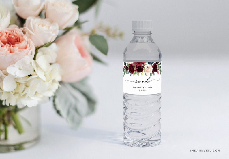 Wasserflaschen personalisiert Hochzeit