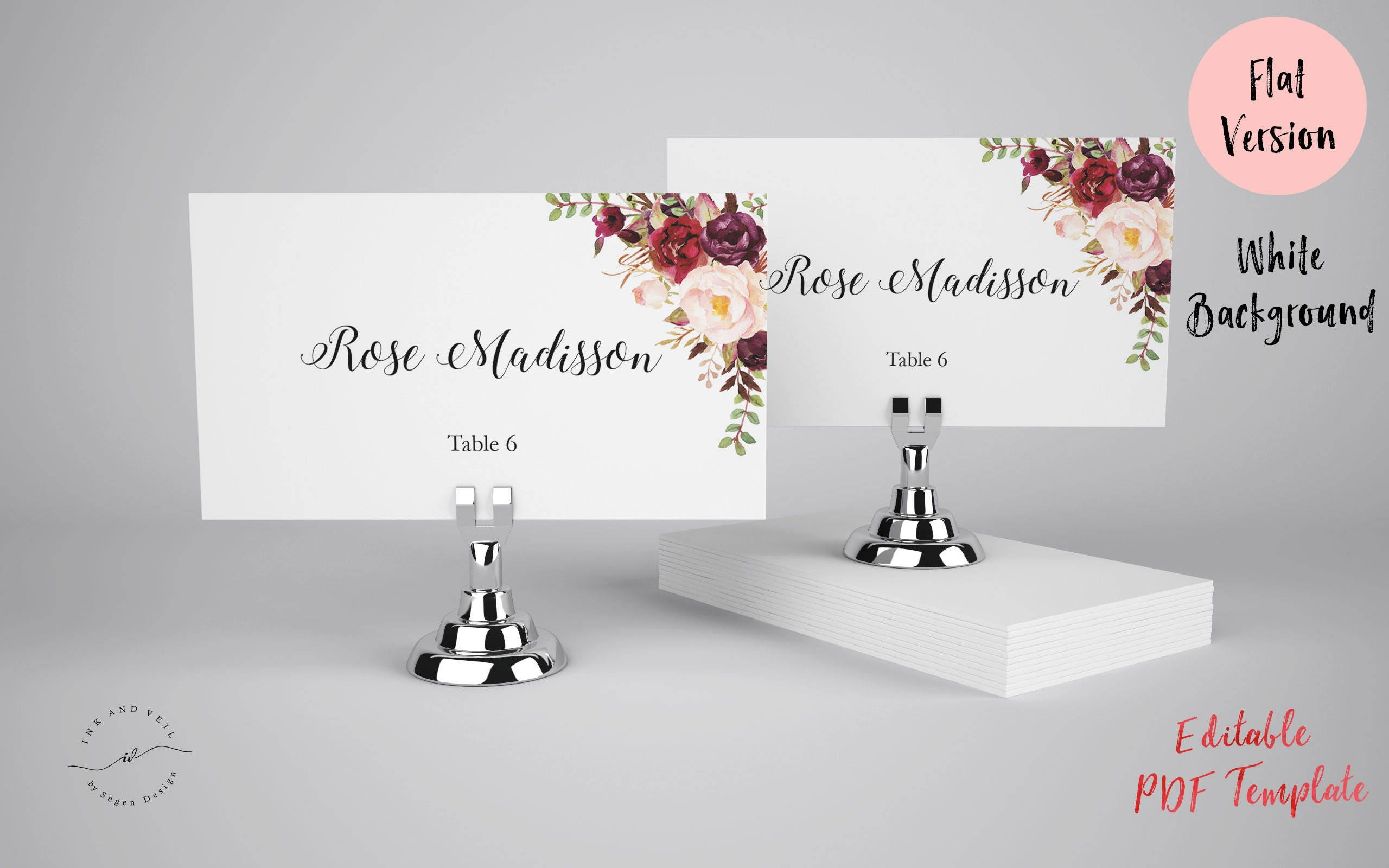 It's just a graphic of Decisive Printable Escort Cards