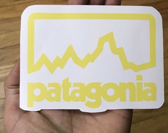 9a75a948 Patagonia Large Mountain Sticker 5inch Decal Fly Fish Adventure Camp Hike  Skate Surf Snowboard Car bumper