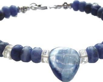 Bracelet with sodalite and kyanite