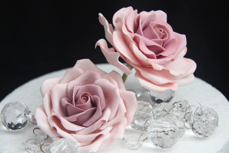 Large Gumpaste Rose For Cake Decorations Filler Flowers Etsy