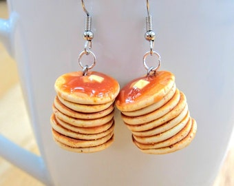 Waffle Stud EarringsMiniature FIMO Food JewelleryFood EarringsPolymer Clay Food JewelleryFimo Food EarringsBreakfast Food Jewellery