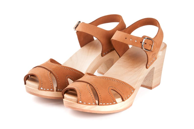 Nude Clog Sandals By Kulikstyle Swedish Clogs Shoes Wooden Clogs Came Clogs For Woman Beige Leather Sandals