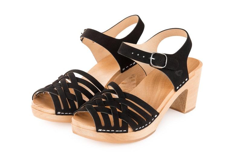 Wooden Clogs By Kulikstyle Sandal Shoes Clog Sandals Swedish Clogs Wooden Clogs High Heel Clogs Boho Shoes Black Boho Clogs