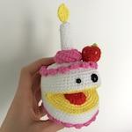 PATTERN - Birthday cake crochet pattern, crochet cake pattern, Amigurumi pattern, Plush crochet pattern, Party cake, Derpy dessert, Candy