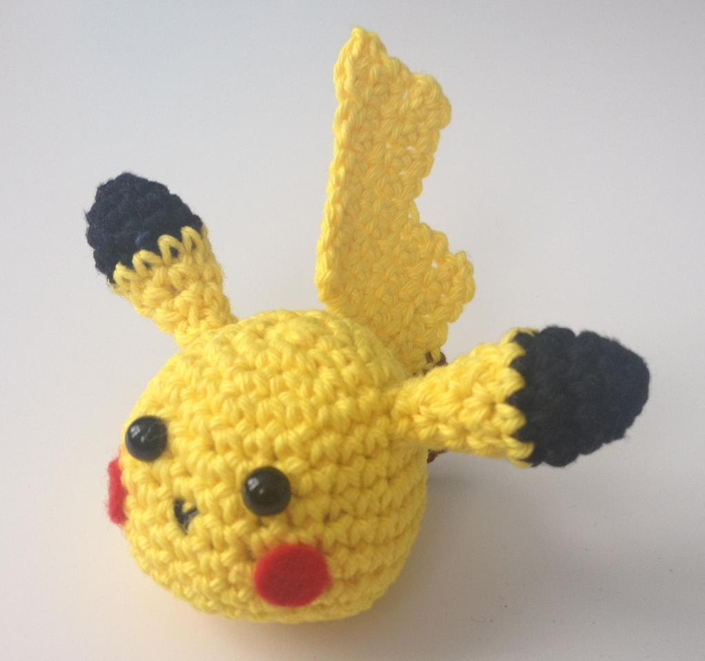 PATTERN Pikachu keychain crochet Crochet Pikachu Head | Etsy