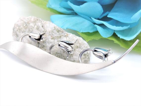 Blue Bells Flower Brooch Sterling Silver by Beau