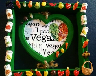 OOAK Vegan shrine punk art diy vegetarian hippy feminist