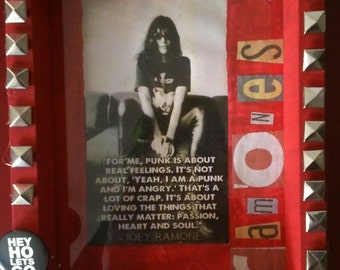 Spookshow Shrines Ramones Joey Ramone punk art diy