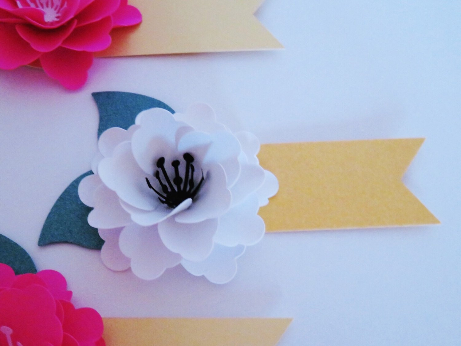 Paper Flower Place Cards Escort Cards Wedding Event And Party