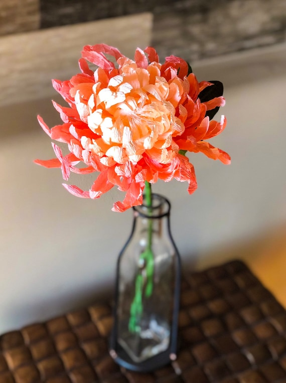 Paper flower chrysanthemums