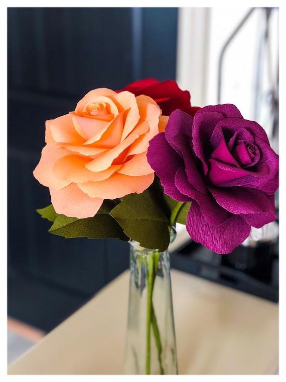 Paper flower Roses