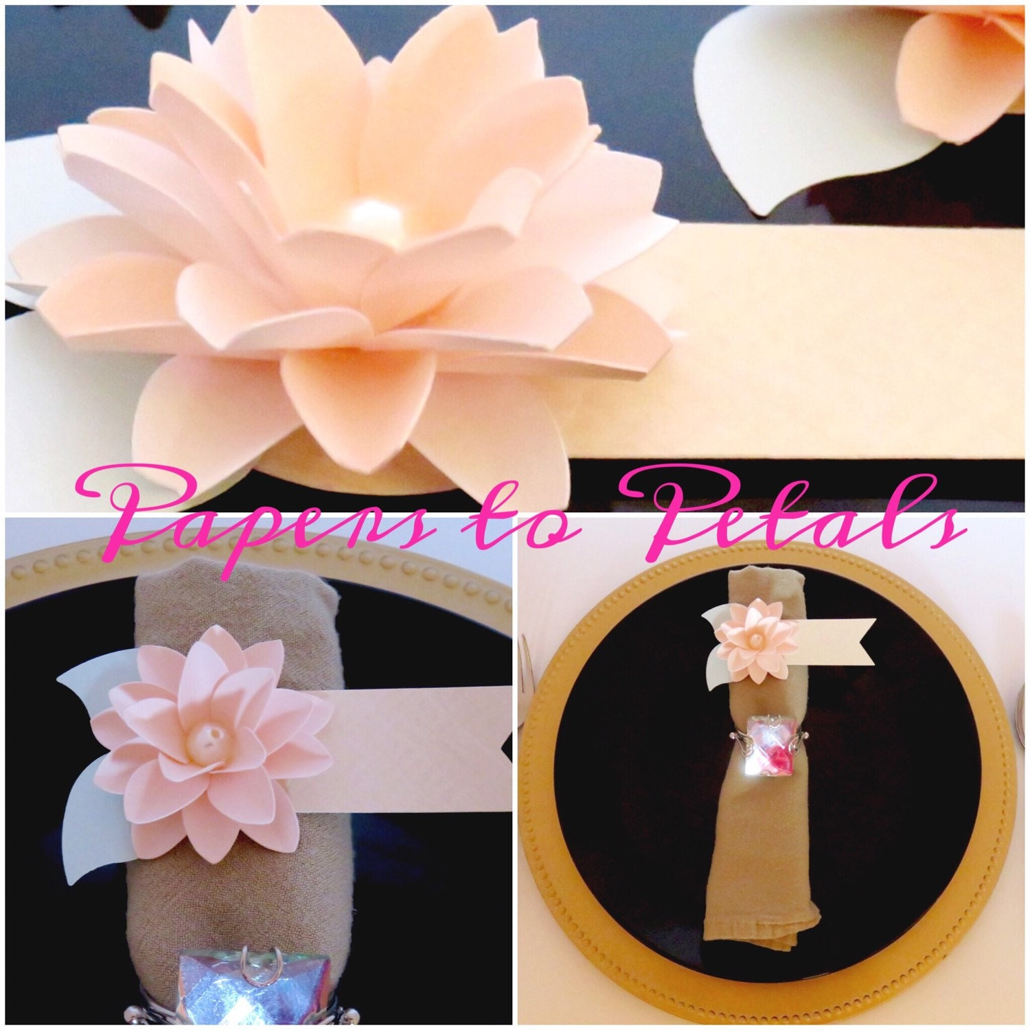 Escort Cards And Place Cards Custom Paper Flower Wedding And Event