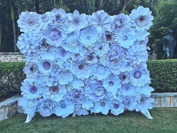 Paper flower wall 8x10 custom order.