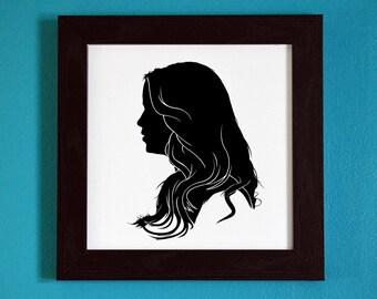 The Originals - Rebekah Mikaelson - Silhouette Portrait Print