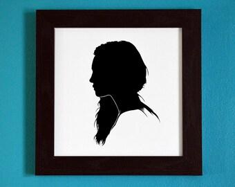 The Originals - Hayley Marshall-Kenner - Silhouette Portrait Print