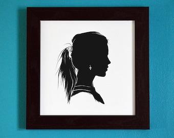 LIMITED VARIANT - The Originals - Rebekah Mikaelson Ponytail Edition - Silhouette Portrait Print