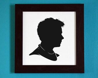 Teen Wolf -  Stiles Stilinski Silhouette Portrait Print