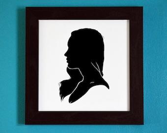 Megan Fox - Silhouette Portrait Print