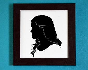 Teen Wolf -  Lydia Martin - Silhouette Portrait Print