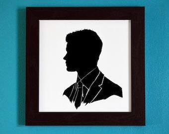 The Originals - Elijah Mikaelson - Silhouette Portrait Print