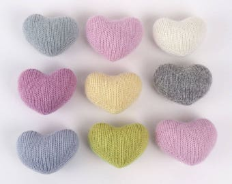 Tiny Heart - knit newborn toys, newborn photo prop, nursery decor, kids room decor, baby photo prop, newborn baby shower gift