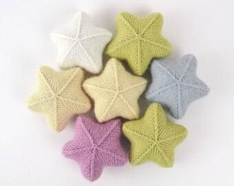 Tiny Star - knit newborn toys, newborn photo prop, nursery decor, kids room decor, baby photo prop, newborn baby shower gift