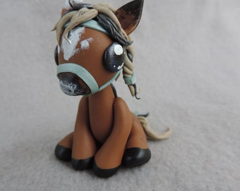 Brown polymer clay pony